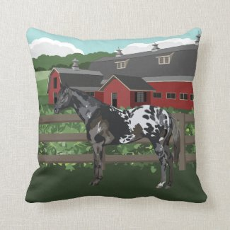 Favorite Horse Breed Throw Pillow