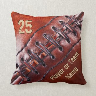 CLICK HERE for Team, Players Name and Number Football Pillows