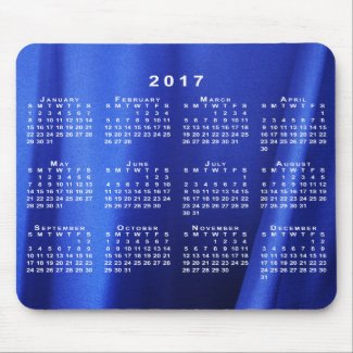 Draped Blue Silk Abstract Photo 2017 Calendar Mouse Pad