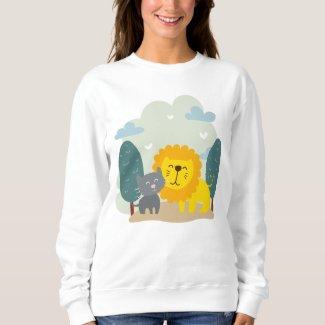 Cat and Lion Best Friend Sweatshirt