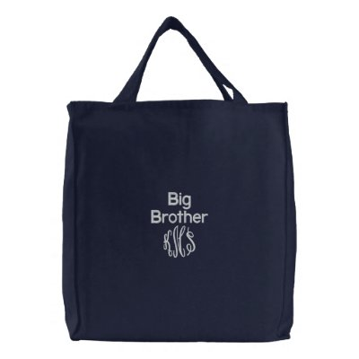 Big Brother & Monogram - Embroidered Bag