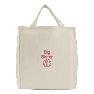 Big Sister & Monogram - Embroidered Bag