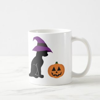 Halloween Cat and Pumpkin Mug