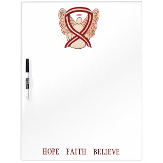 Head/Neck Cancer Awareness Ribbon Dry Erase Board