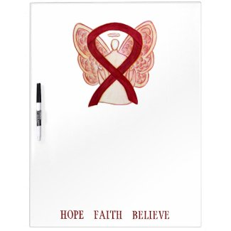 Burgundy Awareness Ribbon Custom Dry Erase Board