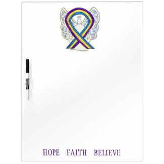 Bladder Cancer Awareness Ribbon Dry Erase Board