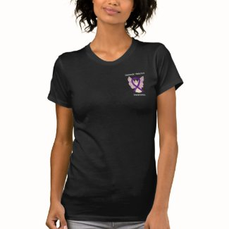 Domestic Violence Awareness Ribbon Angel Shirts