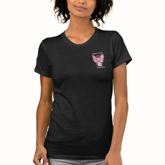 Breast Cancer Awareness Ribbon Angel Custom Shirts