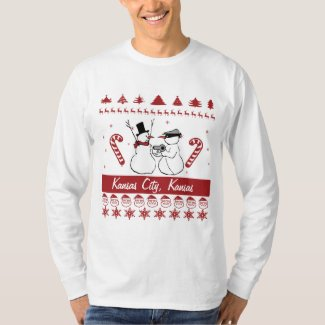 Any City Ugly Christmas Sweater Snowman Robbery Shirt