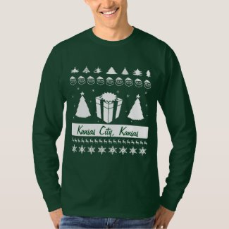 Your City Name Ugly Christmas Sweater Gift Trees Tshirt