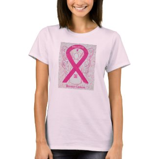 Breast Cancer Pink Awareness Ribbon Angel Shirt