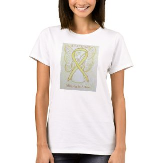 Missing in Action Yellow Awareness Ribbon Shirt