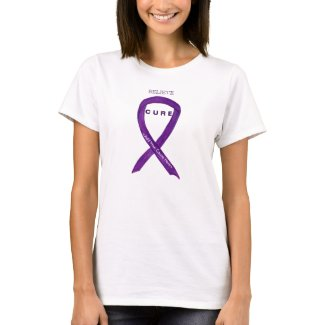Purple Awareness Ribbon Custom Shirt Cause Apparel