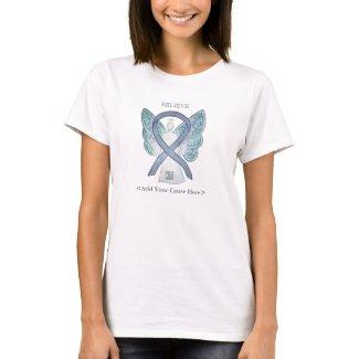 Gray Awareness Ribbon Angel Custom Shirts