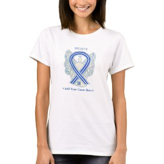ALS Awareness Ribbon Angel Custom Cause Shirts