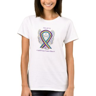 Bladder Cancer Awareness Ribbon Angel Custom Shirt