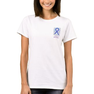 Blue and Purple Ribbon Awareness Custom Shirts