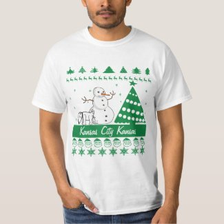 Any Text Dog Pee On Snowman Ugly Christmas Sweater T-shirt