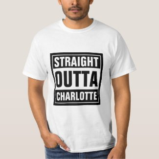 STRAIGHT OUTTA typography t shirts | Personalize