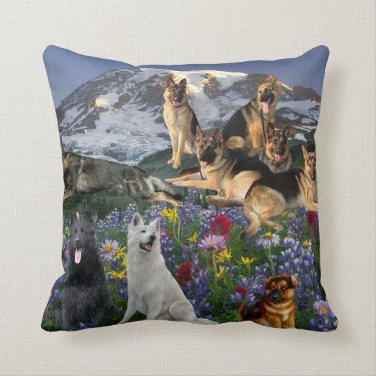 German Shepherd The Night You Invade My House Throw Pillow
