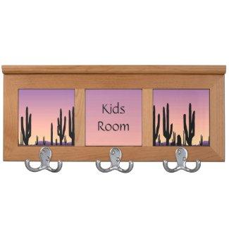 Purple West Kids Room Coat Rack