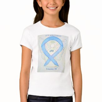 Trisomy 18 Blue Awareness Ribbon Angel Shirt