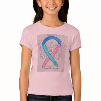 Thyroid Cancer Awareness Ribbon Angel Shirt