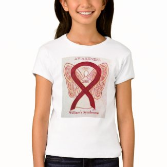 William's Syndrome Burgundy Awareness Ribbon Shirt