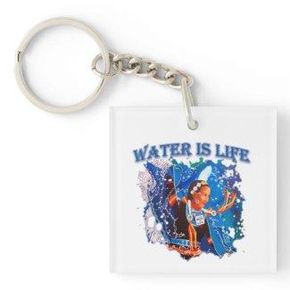 Water is Life - Fancy Shawl Dancer Keychain