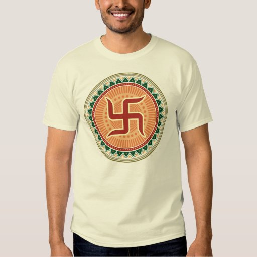 Traditional Indian Style Interior Design: Swastika With Traditional Indian Style Mandana T-Shirt
