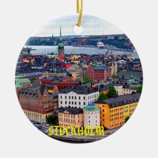 Christmas Tree Sweden: Sweden - Stockholm Beautiful Christmas Ornament