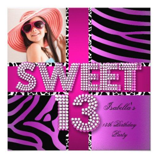 Personalized 13th Birthday Invitations