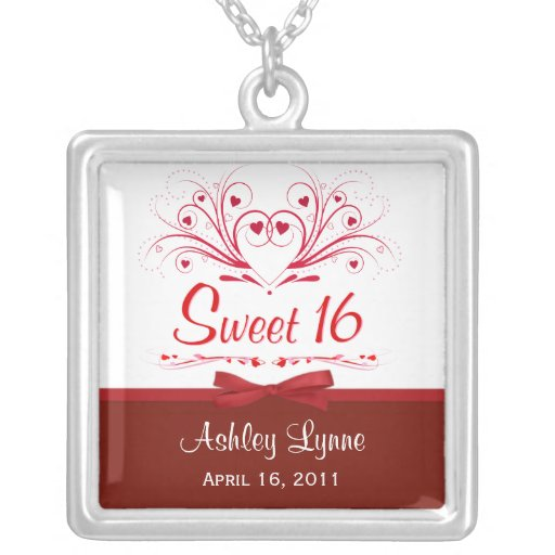 Personalized 18th Birthday Necklace Initial Custom: Sweet 16th Birthday Personalized Pendant Necklace