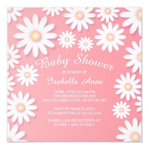 Sweet Daisy Baby Shower Invitation