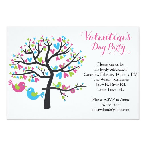 sweet love birds valentine 39 s day party card zazzle. Black Bedroom Furniture Sets. Home Design Ideas