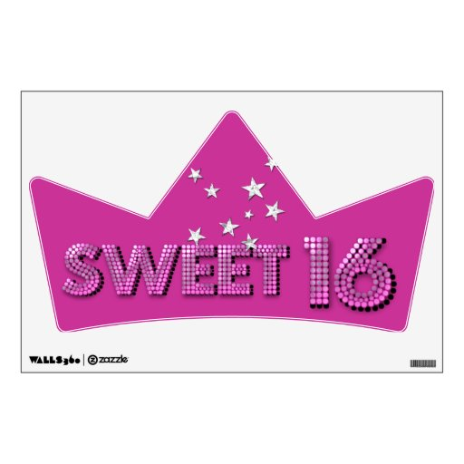 Sweet Sixteen Sweet 16 16th Birthday Party Room Graphics