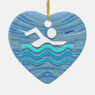 Swimming Christmas Ornaments & Swimming Ornament Designs ...