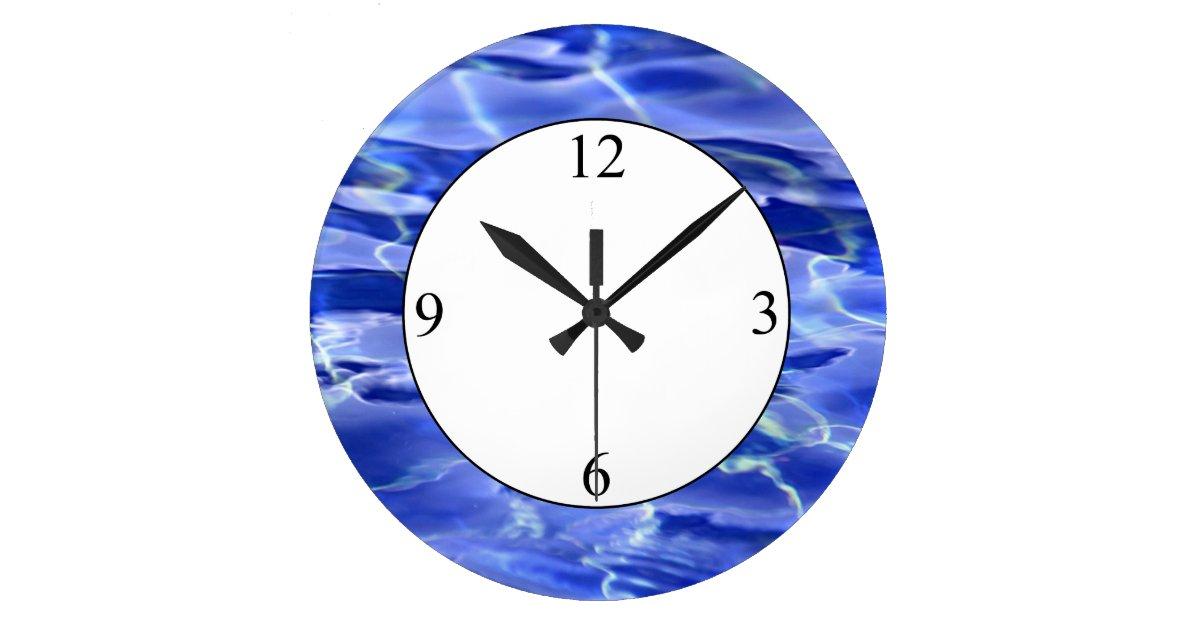Swimming Pool Large Clock Zazzle
