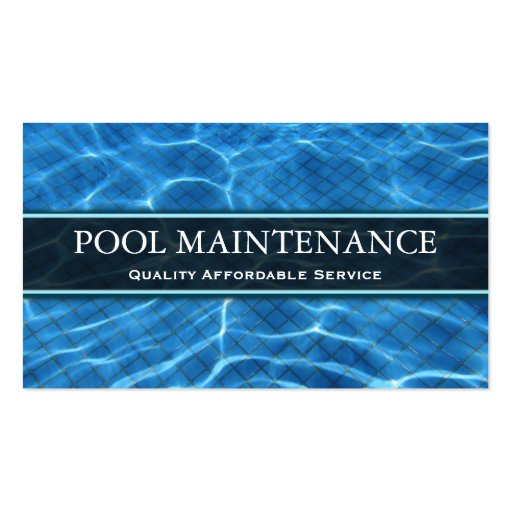 Swimming pool photo business card zazzle for Pool design templates