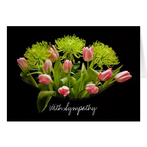 sympathy card tulips flower arrangement  zazzle