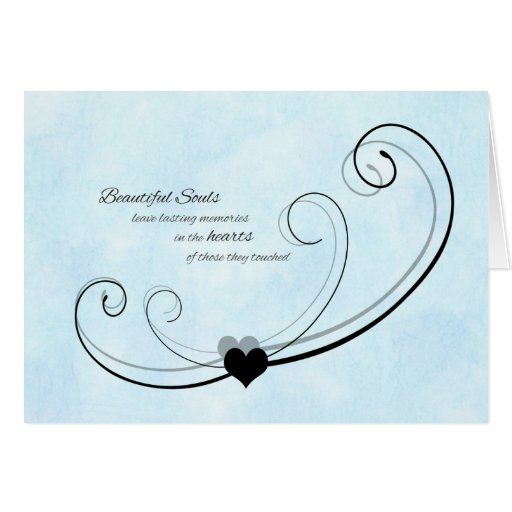 sympathy thank you card  beautiful souls  zazzle