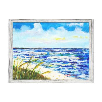 Tampa Bay Florida Beach Sunshine Skyway Bridge Canvas Print