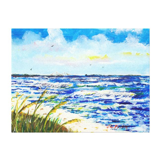 Tampa Bay Florida Beach Sunshine Skyway Bridge Canvas Prints