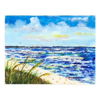 Tampa Bay Florida Beach Sunshine Skyway Bridge Postcards