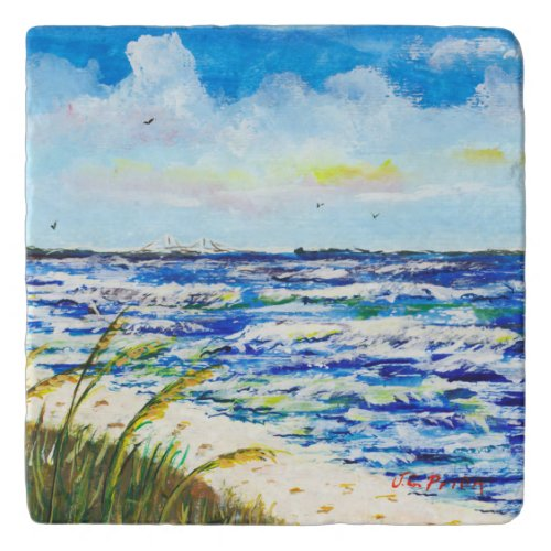 Tampa Bay Florida Beach Sunshine Skyway Bridge Trivets