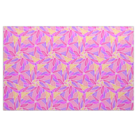 Tangled Petals Abstract Spring Floral Pastel Fabric