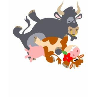 Tango!! (cartoon bull and cow) children T-shirt shirt