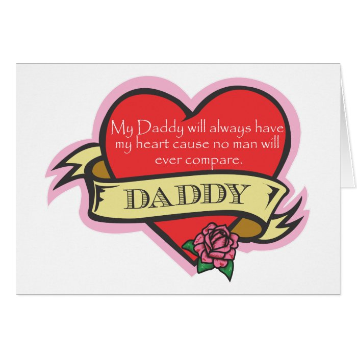 d482543d Tattoo Heart Father's Day Card Daughter on PopScreen