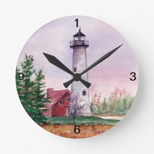 Tawas Point Lighthouse Wall Clock Zazzle
