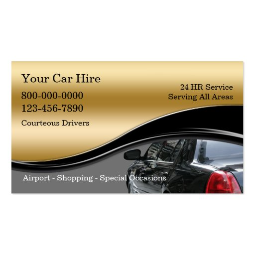 Taxi Limo Chauffeur Business Card